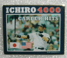 ICHIRO SUZUKI  YANKEE STADIUM NY EXCLUSIVE PIN 4000 CAREER BASE HITS USA + JAPAN