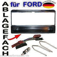 FORD Fiesta Focus Escort Mondeo Radio Blende Rahmen + ISO Adapter + Kabel SET !