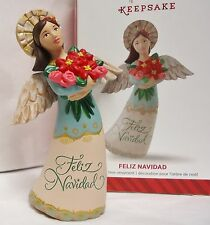 Feliz Navidad Angel Ornament HALLMARK 2014 NEW in BOX