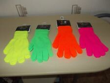 4 Pairs Neon Magic Gloves Birthday/Christmas One Size  NEW Job Lot Bundle