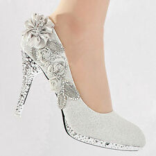 Wedding Shoes - Bride / Bridal / Bridesmaid / Prom /  Shoes - White - Size 6 UK
