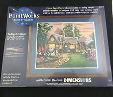 Dimensions Paint by Number Kit Paint Works Twilight Cottage Lisa Burns 20 X 16