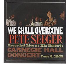 """PETE SEEGER WE SHALL OVERCOME / GUANTANAMERA 7"""" 45 GIRI"""