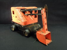 Marx Lumar Contractors Orange & Black Steam Shovel Pressed Steel Toy