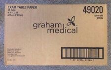 "GRAHAM Chiropractic Headrest 25/cs Table Paper Roll Smooth 8.5""x225' #49020"