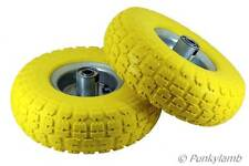 """8 x10"""" Solid Rubber Tyre Wheel Replacement No More Flats Sack Truck Trolley Cart"""