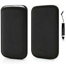 FUNDA + PUNTERO IPHONE 5S 5 NEOPRENO NEGRA NEGRO BLACK NEOPRENE CASE HOUSSE