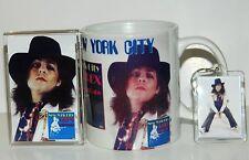MARC BOLAN  - 'NEW YORK CITY' MUG, LARGE KEYRING & JUMBO FRIDGE MAGNET GIFT SET