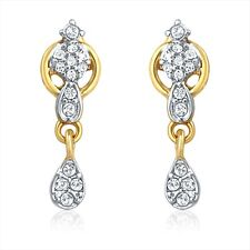 Mahi Gold Plated Love Lock Earrings With Crystals ER1196002G