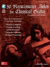 50 Renaissance Solos for Classical Guitar Sheet Music Book and Audio 002500837