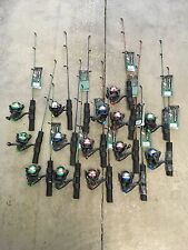 "6  Ice Fishing Rod & Reel Combos 24"" Super Light Rod Spinning Reel"