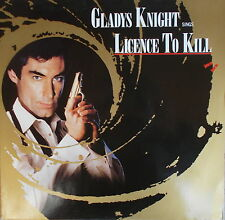 """12"""" Gladys Knight sings Licence To Kill - James Bond 007,VG++,cleaned,MCA"""