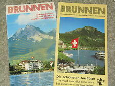 Switzerland - pair of cheap and cheerful leaflets with panorama maps of Brunnen