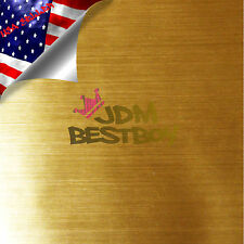 "4""x8"" SAMPLE Chrome Gold Brushed Aluminum Wrap Decal Wallpaper Sticker 8083H"