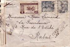 ESPAGNE - BELLCAIRE (LERIDA) LE 23-9-1944 - BEL AFFRANCHISSEMENT POUR LE MAROC -