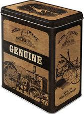 John Deere Caja de Lata de Estaño de Almacenamiento de 10x14x20 cm L 3L Tractor