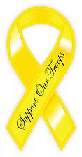 Giallo nastro yellow ribbon support our troops etichetta sticker 8cm x 13cm