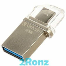 Verbatim OTG Micro 16GB 16G USB 3.0 Flash Drive Disk Mobile Android PC Tablet