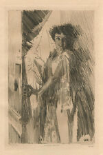 Anders Zorn original etching