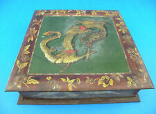 *ANTIQUE* c1907 Rare British Biscuit Tin by HUNTLEY & PALMERS Dragon Design