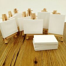 """Lot of 12 Blank Canvas and Display Easel Great for Wedding Name Board 3.25x4"""""""