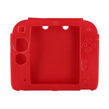 Red Protector Soft Silicone Skin Shell Case Cover Accessory for Nintendo 2DS New