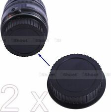 2x New Style Rear Lens Cap Cover Protector for Canon EF EF-S Mount Lens - ABS+PC