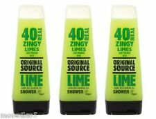 3 x Original Source LIME Shower Gel 250ml Body Wash Natural Fragrance New