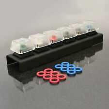 WASD Keyboards 6-Key Cherry MX Switch Tester with Sound Dampening O-Rings