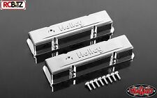 RC4WD 1/10 Holley® Chrome Valve Covers for Scale V8 Engine Z-S1500 inc screws