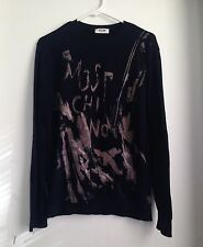 MOSCHINO COTTON  SWEATER  COLOR: NAVY/GRAFFITI  SIZE: M