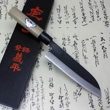Gihei Japanese Kitchen Chef Knife Blue Carbon Steel Santoku 165mm Aogami Japan