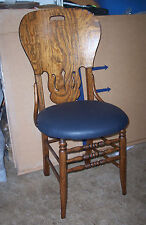 Quartersawn Oak Desk Chair Sidechair Dinette Chair with leather seat  (SC191)