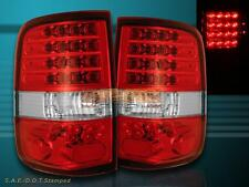 04-08 FORD F150 RED CLEAR LED TAIL LIGHTS 2004 2005 2006 2007 2008