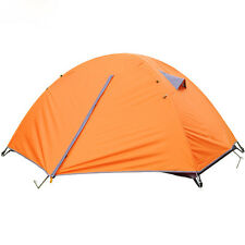 Orange Windproof Waterproof Double-layer 2 Person Tent Camping Hiking 3 Season