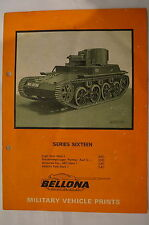 British Military Vehicle Prints Mark 1 Armoured Cars Tanks Reference Book