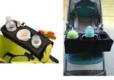 1pc black baby kids universal stroller lap tray snack milk bottle bag buggy tray