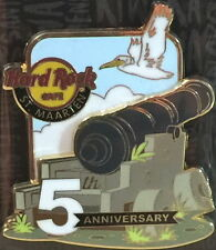 Hard Rock Cafe ST. MAARTEN 2016 5th Anniversary PIN 3-D Canon LOGO & Seagull HRC