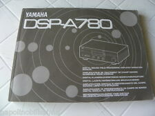 Yamaha DSP-A780 Owner's Manual  Operating Instruction   New