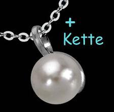 925 ECHT SILBER *** Collier Kette mit Perlen Anhänger