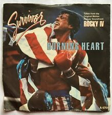 "Survivor - Burning Heart (Rocky IV) Scotti Brothers 7"" Picture Sleeve Single"