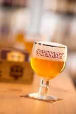 Chimay Chalice Trappist Beer Glass Belgium & FREE Coaster