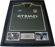JOE HART SIGNED & FRAMED AUTOGRAPH MANCHESTER CITY PREMIERSHIP WINNING SHIRT COA