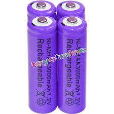 4x AA battery batteries Bulk Nickel Hydride Rechargeable NI-MH 3000mAh 1.2V Pur