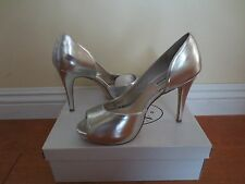 NEW STEVE MADDEN JAIDY SILVER PARIS PEEP TOE PUMP HEELS SHOES SIZE 8