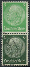 Germany 1933 SG#5pf, 6pf Se-tenant Hindenburg Used Pair #A85140