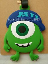 Cute Disney Pixar Monster Inc University Mike Wazowski Luggage Tags Card Holder