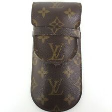 AUTHENTIC LOUIS VUITTON Monogram Etui a Lunettes M62970 Glasses Case Brown