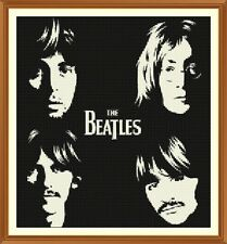 Beatles Silhouette CROSS STITCH CHART 12.0 x 11.0 inch