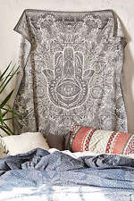 Hamsa Hand Tapestry Wall Hanging Indian Hippie Bedspread Decorative Art Throw